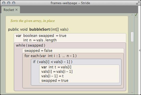 Stride: Frame-based editting (greenfoot.org/frames/)