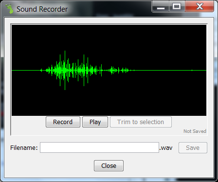 Sound recorder need trim